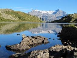 Ausblick auf den Alpjengletscher-Simplon