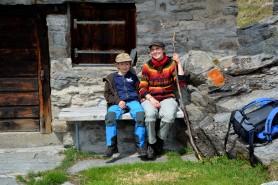 Rast auf Alpe Piaeneza