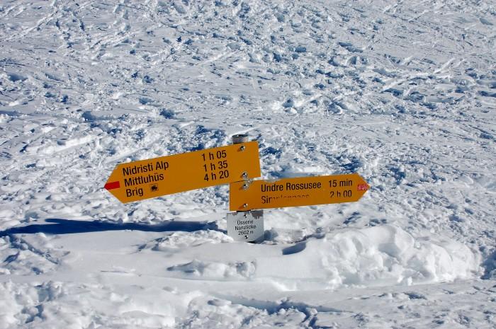 Wandererlebnis im Schnee-Region Simplon